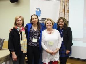 De gauche à droite: Chloé Serradori, Gorette Linhares, Doris Provencher et Cosette Bou Tayeh.