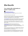 The Gazette. New website offers information on Quebec's health system